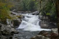 Quary Falls, aka Bust-Yer-Butt Falls, on the Cullasaja River, NC.