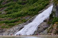 Nugget Falls, Mendenhall Glacier Recreation Area, Tongass National Forest, Juneau, AK