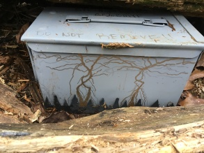 Cool paint job on a special cache.