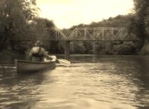 Rob approaching Smallings bridge
