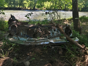 What we think is remains of a Studebaker at the launch point.