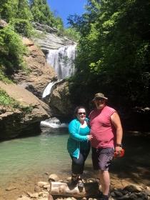 Kara and Rob at Russell Creek Falls