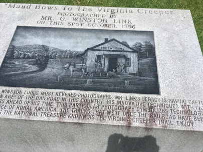 Monument marking the spot O. Winston Link took his famous photo.