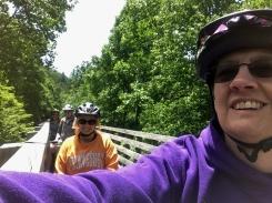 Selfie along a trestle.