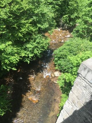 Creek below the trestle