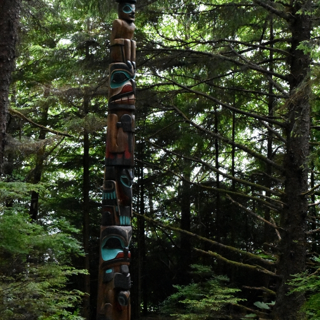 This was one of the many totem poles we saw on our walk in the park.