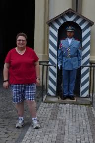 Deban and a castle guard.