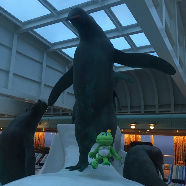 He quickly made friends on the Lido Deck.
