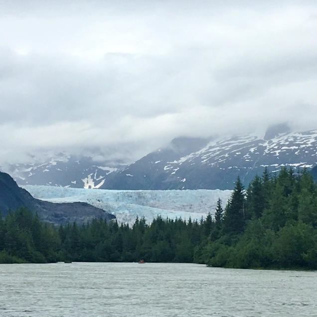 Mendenhall Glacier from the river.