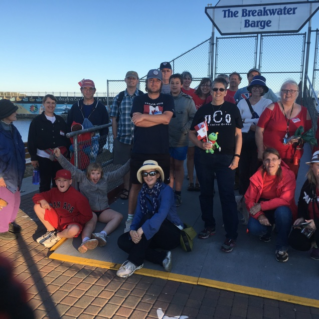 Signal and I hosted a geocaching event in the port at Victoria. It was well attended by 24 geocachers from the area as well as one man from Anchorage, Alaska.