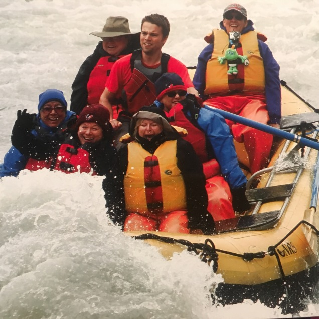 Rafting on the Mendenhall River.