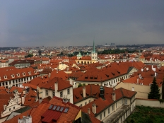 View of Prague from the castle hill.