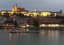 Prague at sundown.
