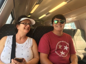 On the train in Brussels. We had an unexpected 24-hour layover here and decided to take advantage of our time by seeing a little bit of the city.