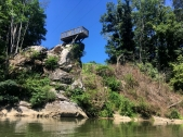 Deck high atop the rocks