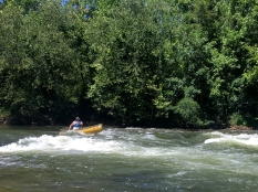 Rob heads into the rapids