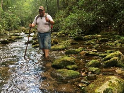 LakeBum in a creek