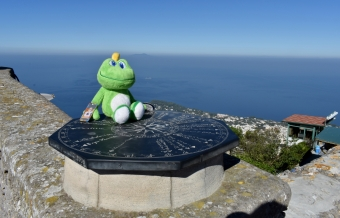 Atop the highest mountain on the island of Capri.