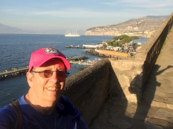 I climbed to this point to find a cache in Sorrento.