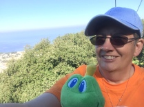 Signal and I rode a chair lift in Capri.