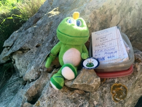 While atop the mountain, I decided to see if there was a cache nearby. There was!