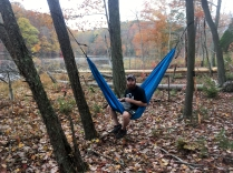 The captain always carries his hammock.