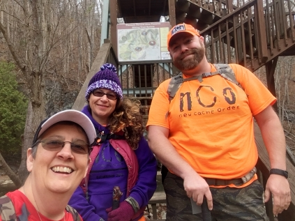 Beginning our hike at Pinnacle Nature Preserve
