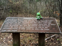 Signal learns about the Pinnacle for which this park is named.