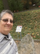 Selfie at an Earth Cache in Prague on International Earth Cache Day.