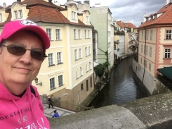 Selfie at the site of a Virtual Cache in Prague.