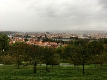View of the city from a traditional cache in Prague.