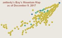 My geocaching map of Bay's Mountain.