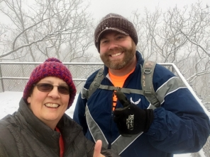 Two thumbs up for snow hiking.