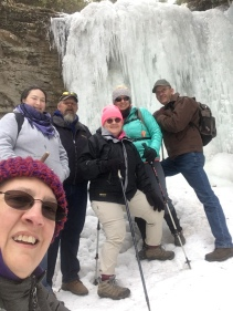 Our crew at Upper Little Stony Falls