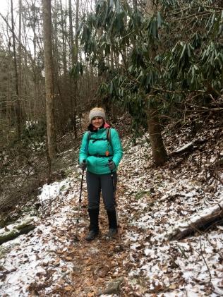 Kelyn on the trail