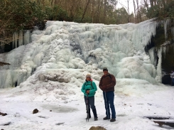 Kelyn and Kenny at Lower Little Stony Falls