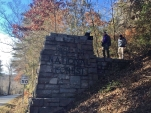 Finding a cache at the entrance to Pisgah National Forest
