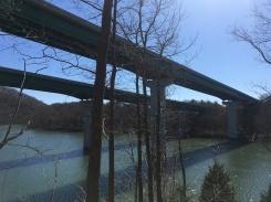 The interstate bridges.