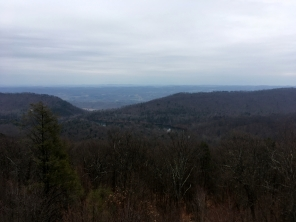 View of the reservoir from atop the Fire Tower.