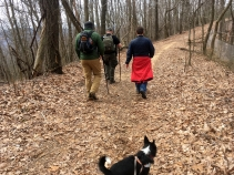 I was outnumbered by the guys on this hike.
