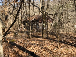 Abandoned house in the woods.